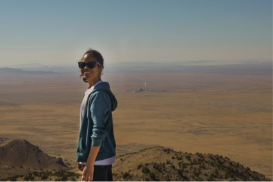Ideanna Carrasco surveys the Incinerator and the West Desert