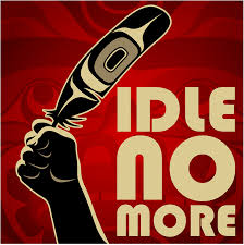 Idle No More by artist Andy Everson.