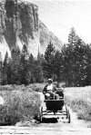 Oliver Lippincott and his Locomobile in Yosemite Photo Courtesy of Yosemite Online Library