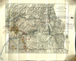 Hand-drawn map of existing and proposed roads within Yosemite National Park. Courtesy of the National Archives and Records Administration.