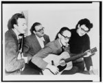 The Weavers (Pete Seeger, Lee Hayes, Fred Halterman, and Miss Ronnie Gilbert) in 1952