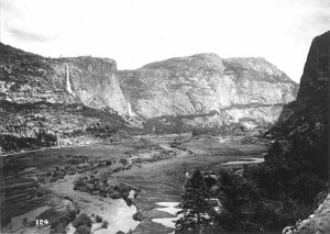 The Hetch Hetchy Valley in roughly 1908