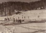 Badger Pass remained open throughout the war, as did Camp Curry and Yosemite Lodge. (Photograph by R. H. Anderson, February 1942, courtesy of the Yosemite Research Library.)